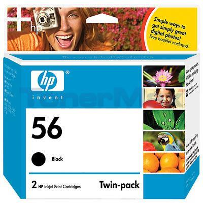 HP NO 56 PRINT CART BLACK TWIN-PACK 